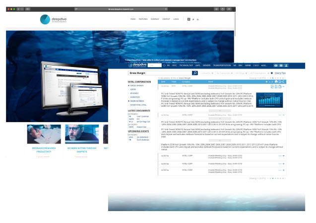 Deep Dive Research